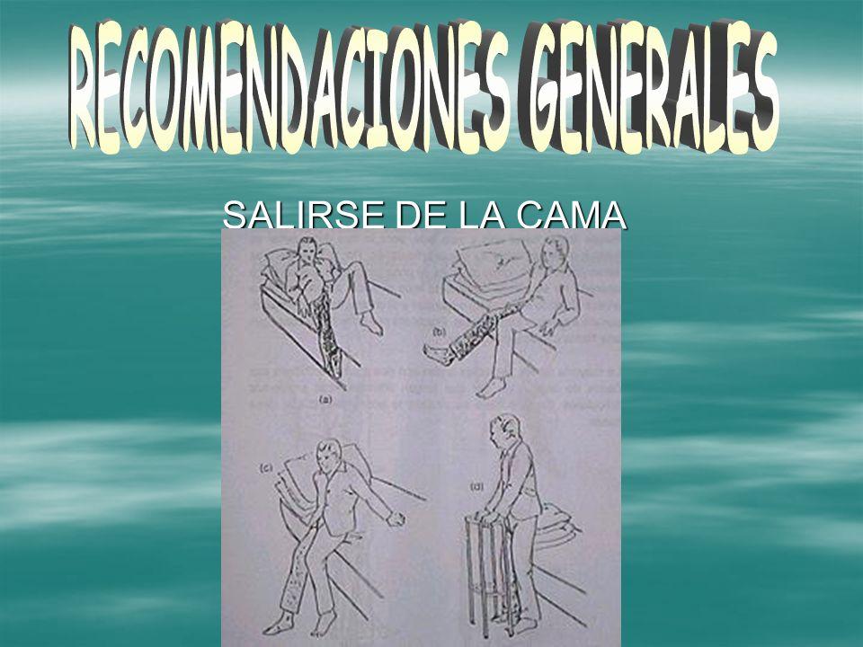 SALIRSE DE LA CAMA