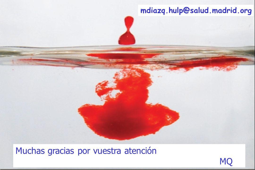 Muchas gracias por vuestra atención MQ mdiazq.hulp@salud.madrid.org