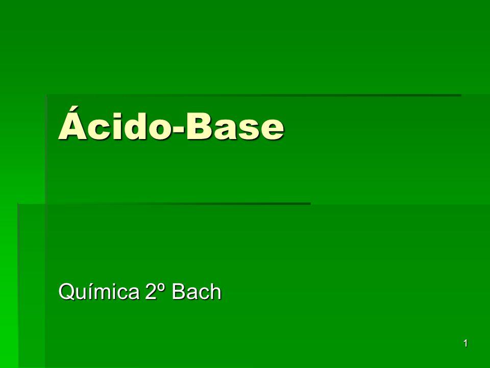 1 Ácido-Base Química 2º Bach