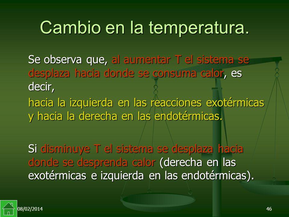 08/02/201446 Cambio en la temperatura.