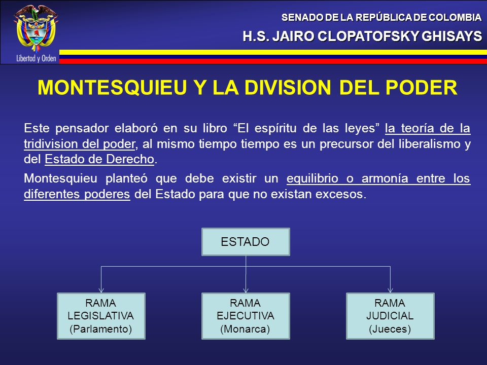 H.S. JAIRO CLOPATOFSKY GHISAYS SENADO DE LA REPÚBLICA DE COLOMBIA LAS FRONTERAS DE COLOMBIA