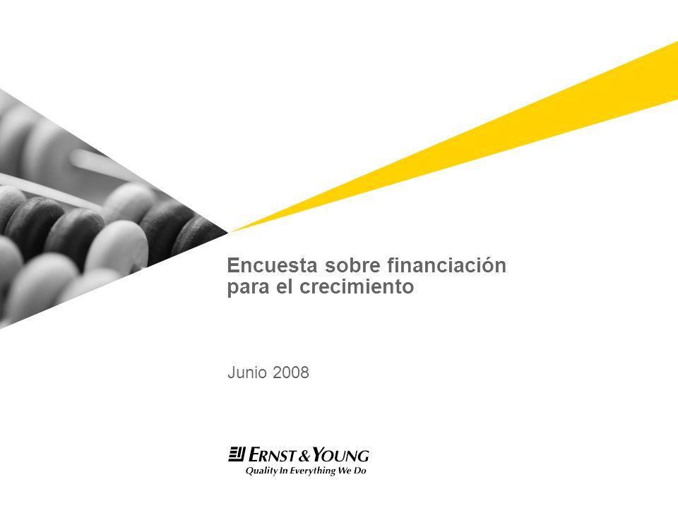 Encuesta sobre financiación para el crecimiento Junio 2008