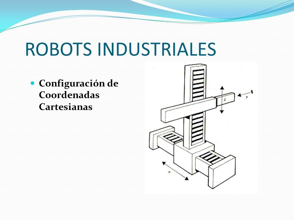 ROBOTS INDUSTRIALES Configuración de Coordenadas Cartesianas