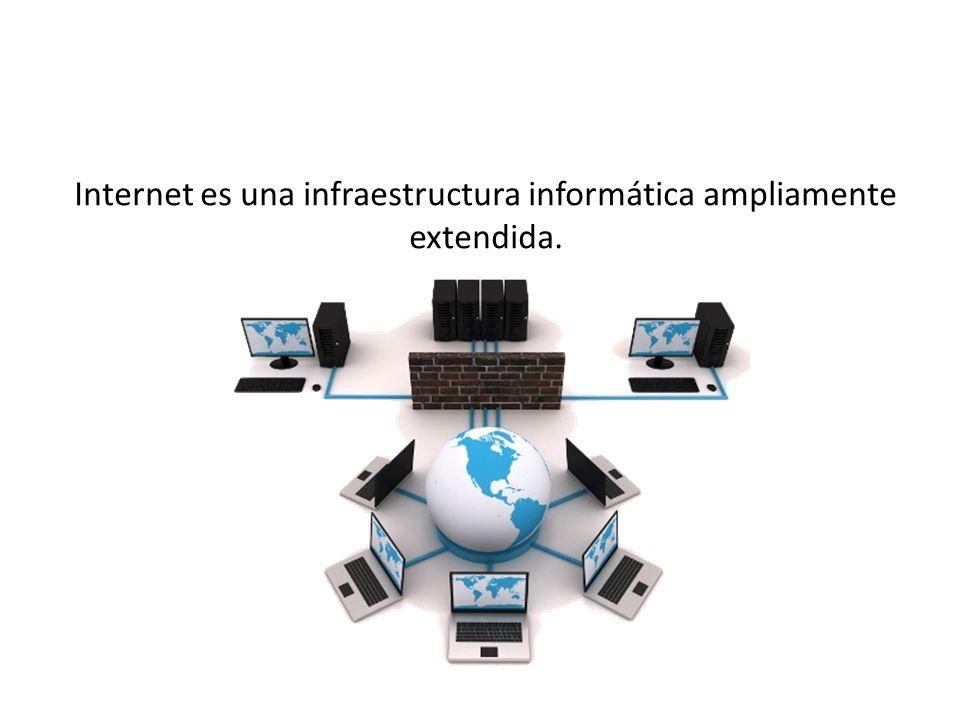 Internet es una infraestructura informática ampliamente extendida. 20 / 56