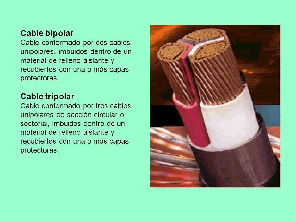 Cable bipolar Cable conformado por dos cables unipolares, imbuidos dentro de un material de relleno aislante y recubiertos con una o más capas protect