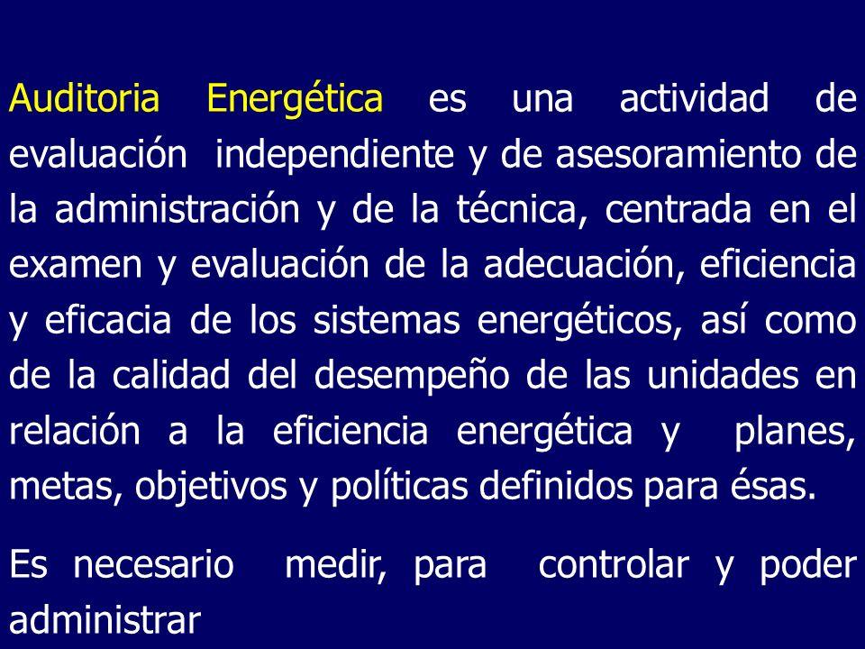 Auditoria Energética es una actividad de evaluación independiente y de asesoramiento de la administración y de la técnica, centrada en el examen y eva