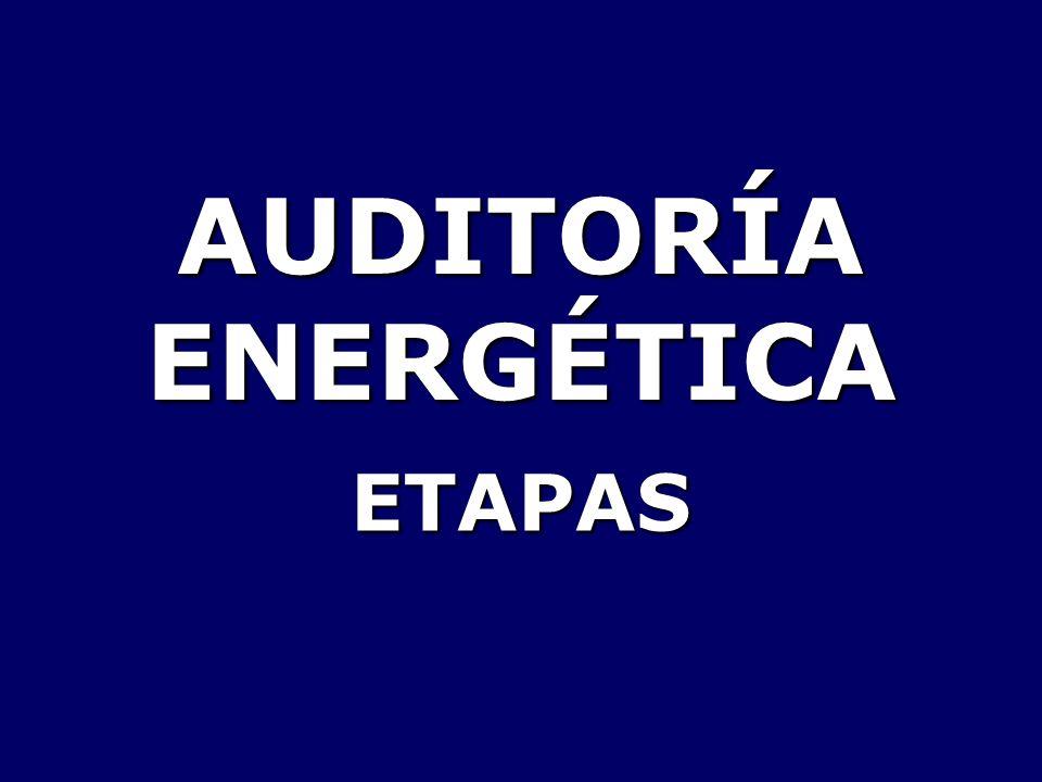 AUDITORÍA ENERGÉTICA ETAPAS