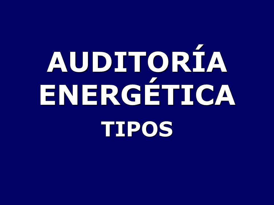 AUDITORÍA ENERGÉTICA TIPOS