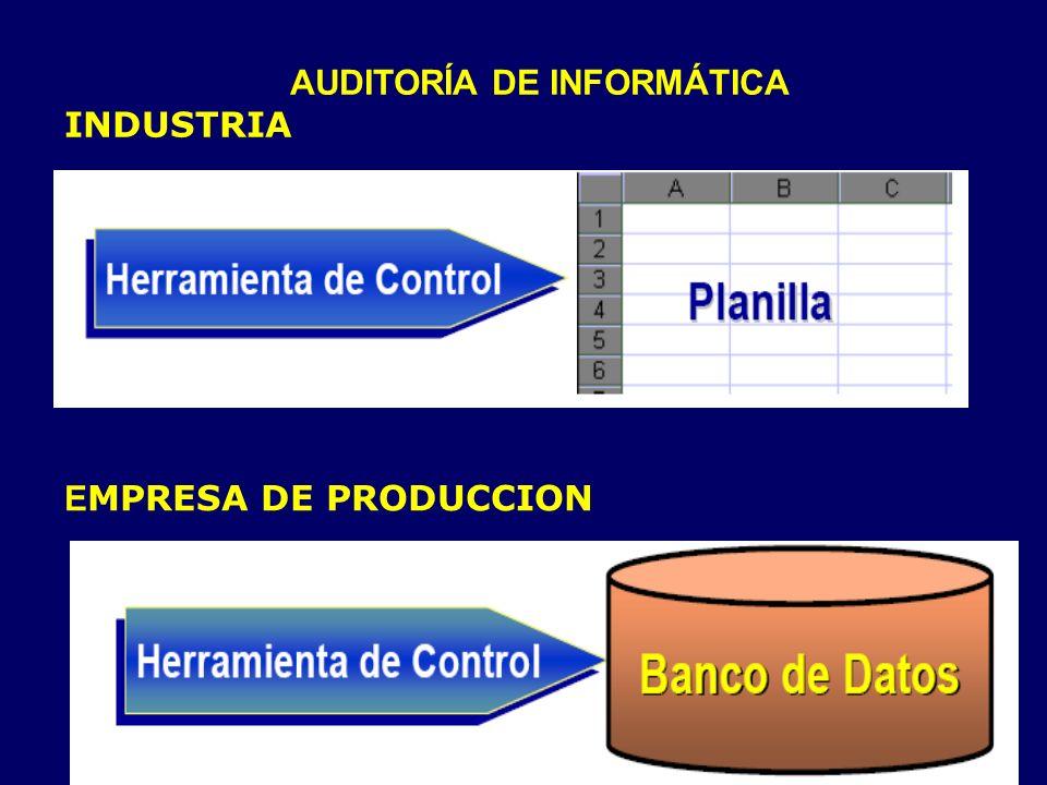 AUDITORÍA DE INFORMÁTICA INDUSTRIA E MPRESA DE PRODUCCION