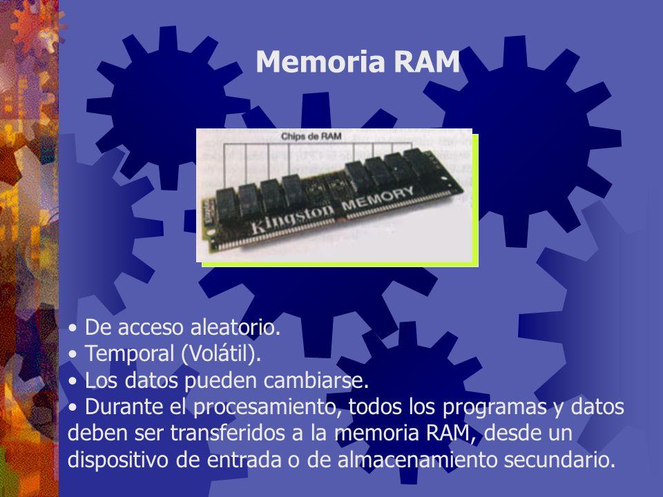 Todos los datos e instrucciones tiene una ubicación específica en la RAM, que se denomina dirección.