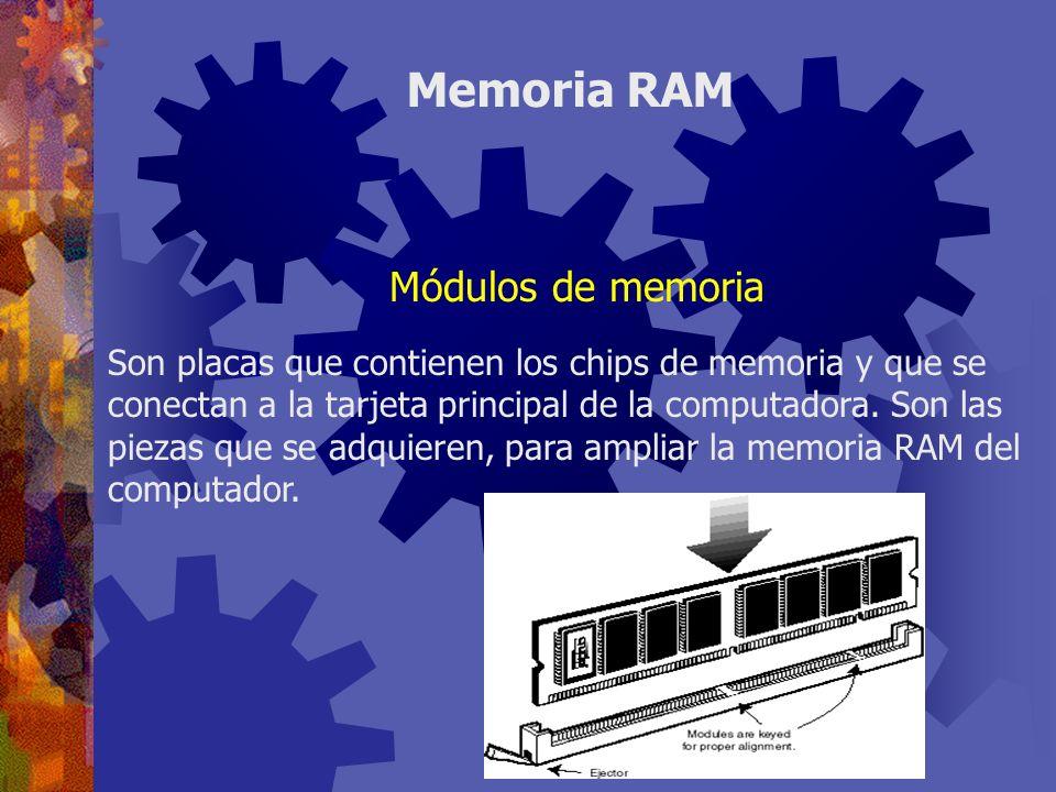 SIMM: módulo simple de memoria en línea (single in-line memory module).
