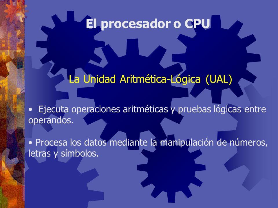 Ejecuta operaciones aritméticas y pruebas lógicas entre operandos. Procesa los datos mediante la manipulación de números, letras y símbolos. El proces