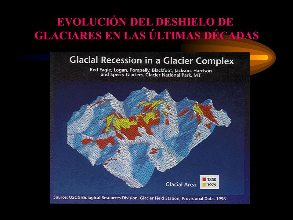 EVOLUCIÓN DEL DESHIELO DE GLACIARES EN LAS ÚLTIMAS DÉCADAS