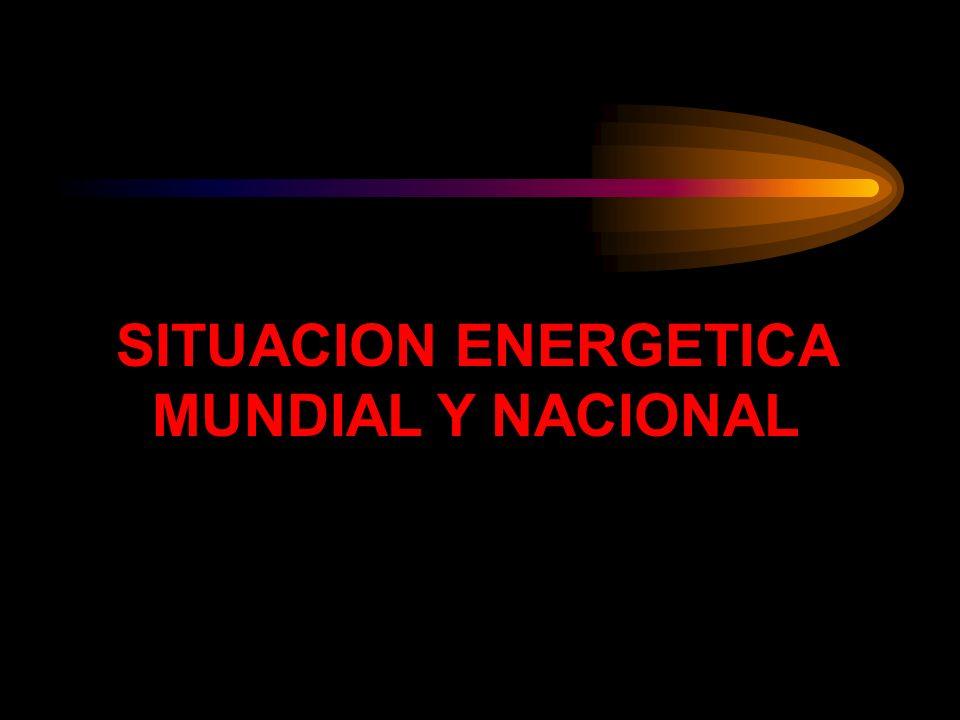 SITUACION ENERGETICA MUNDIAL Y NACIONAL