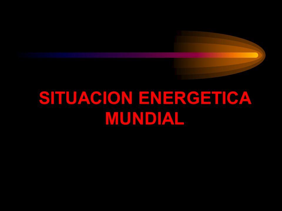 SITUACION ENERGETICA MUNDIAL
