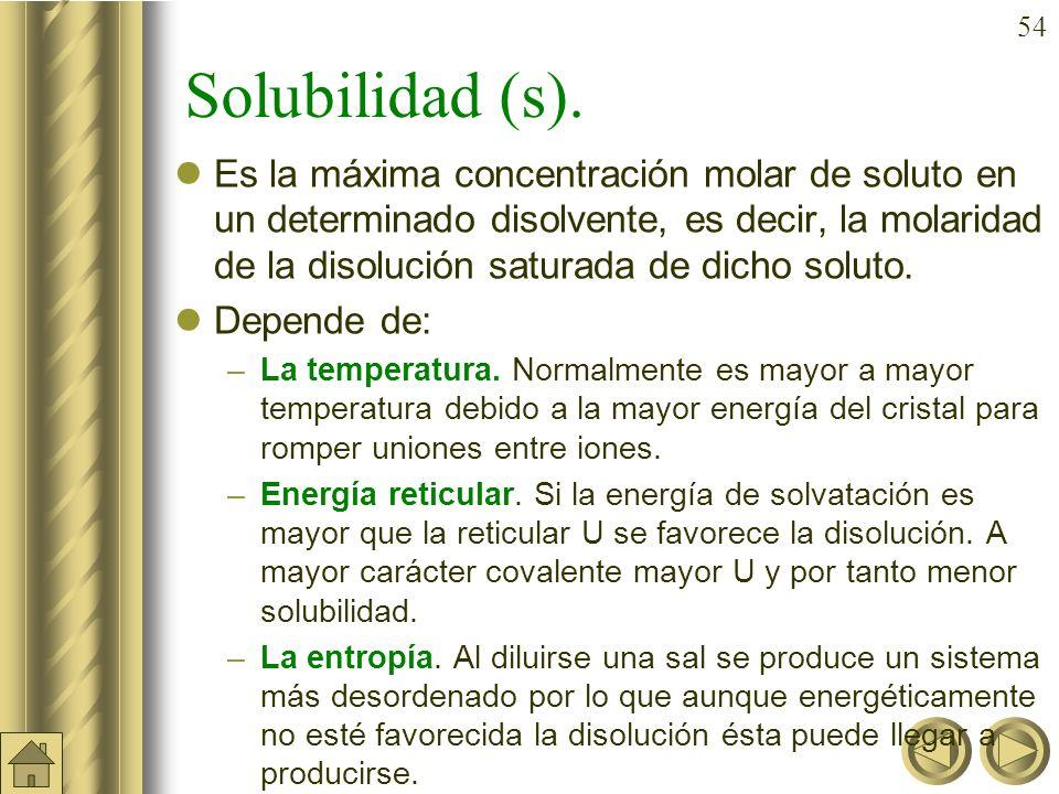 53 Reacciones de precipitación. Son reacciones de equilibrio heterogéneo sólido-líquido. La fase sólida contiene una sustancia poco soluble (normalmen