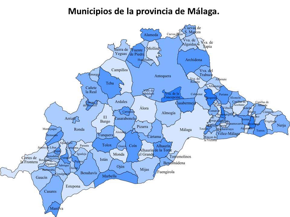 Municipios de la provincia de Málaga.