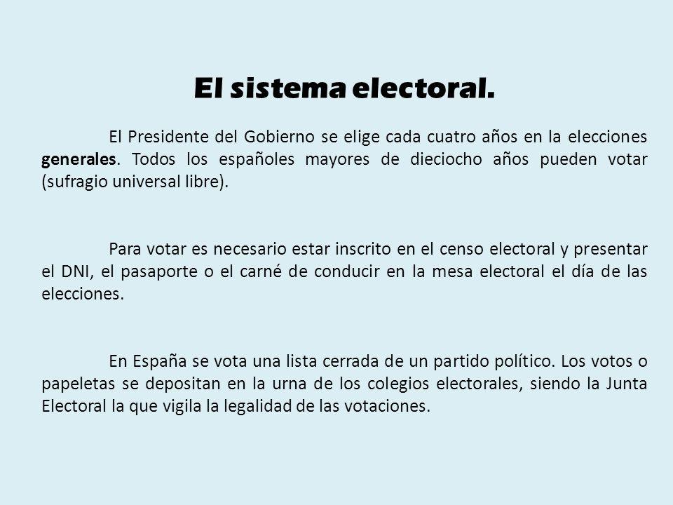 El sistema electoral.