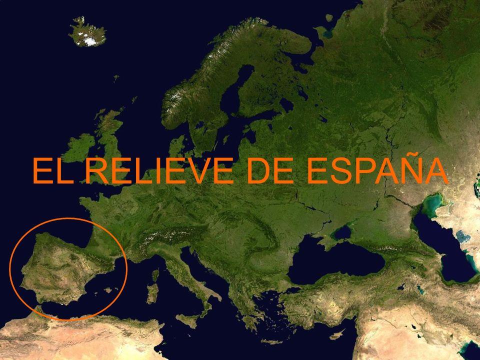 El relieve español es resultado del choque de las placas tectónicas euroasiática y africana Euroasiática Africana Borde de contacto con alta sismicidad Borde de contacto con alta sismicidad
