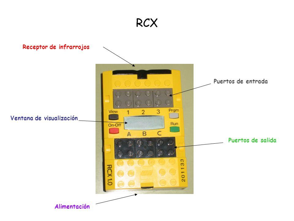 RCX Compartimento para pilas Transmisor de infrarrojos Alimentación a red eléctrica