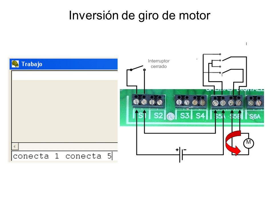 Inversión de giro de motor