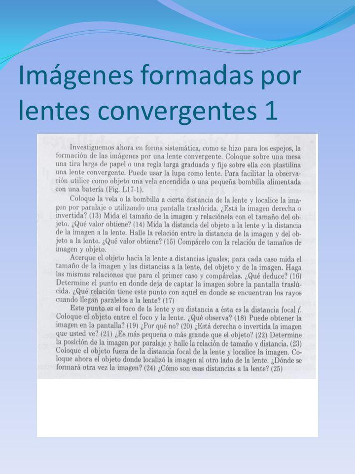 Imágenes formadas por lentes convergentes 1