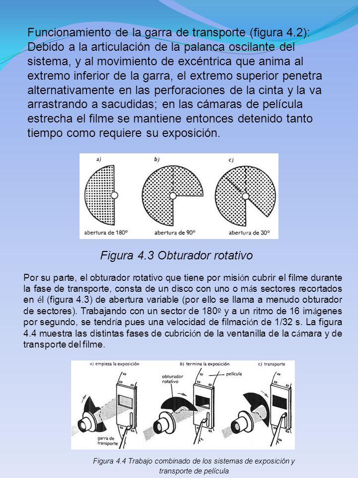 Funcionamiento de la garra de transporte (figura 4.2): Debido a la articulación de la palanca oscilante del sistema, y al movimiento de excéntrica que
