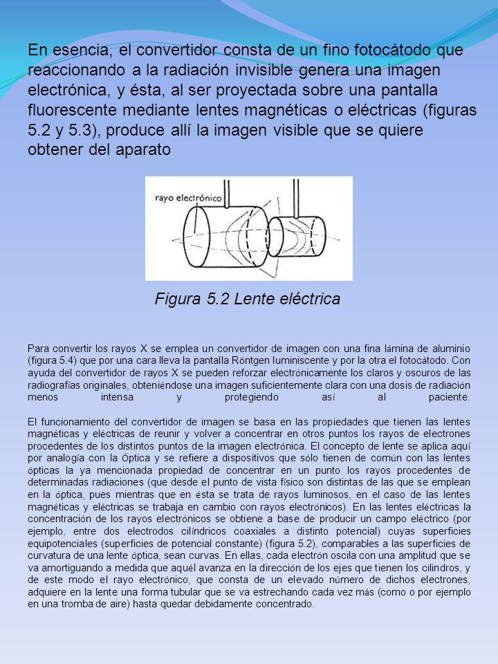 En esencia, el convertidor consta de un fino fotocátodo que reaccionando a la radiación invisible genera una imagen electrónica, y ésta, al ser proyec