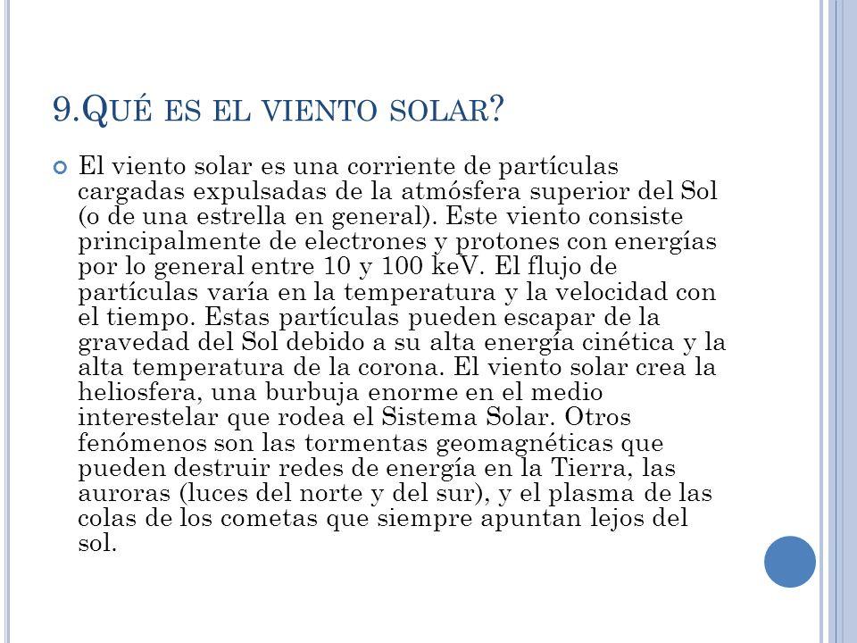 9.Q UÉ ES EL VIENTO SOLAR .