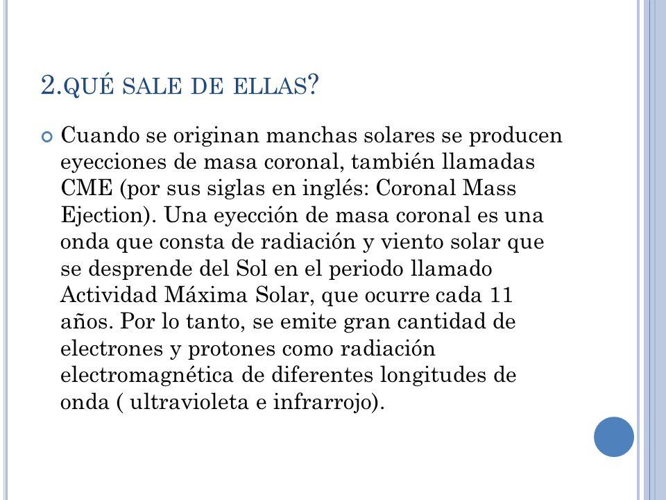 2. QUÉ SALE DE ELLAS .