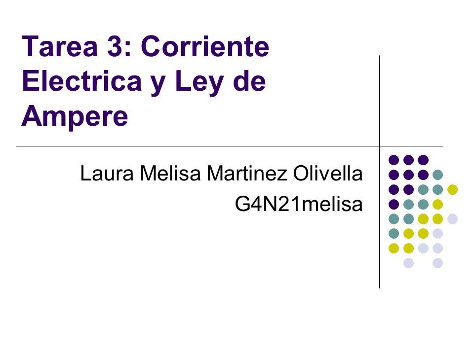 Tarea 3: Corriente Electrica y Ley de Ampere Laura Melisa Martinez Olivella G4N21melisa