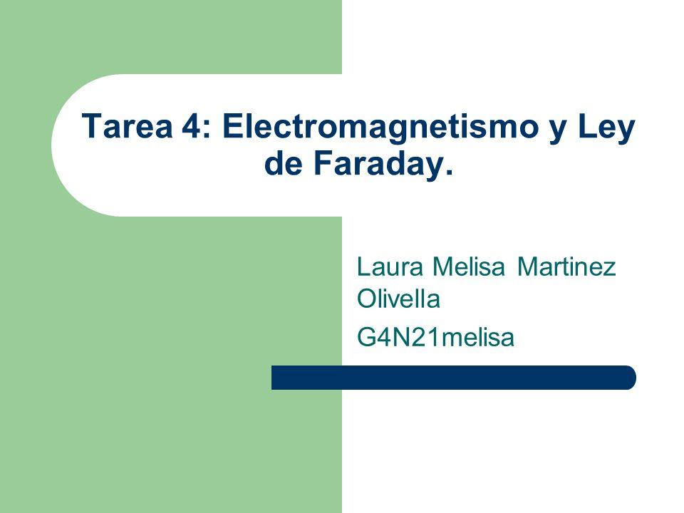 Tarea 4: Electromagnetismo y Ley de Faraday. Laura Melisa Martinez Olivella G4N21melisa