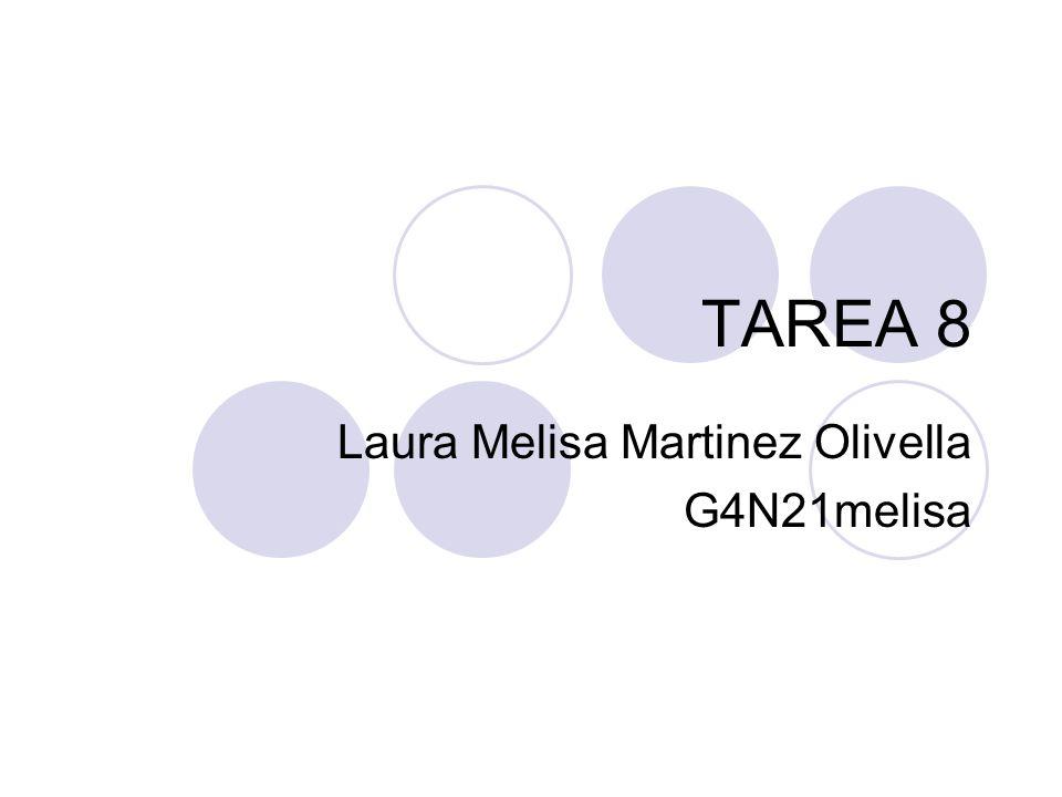 TAREA 8 Laura Melisa Martinez Olivella G4N21melisa