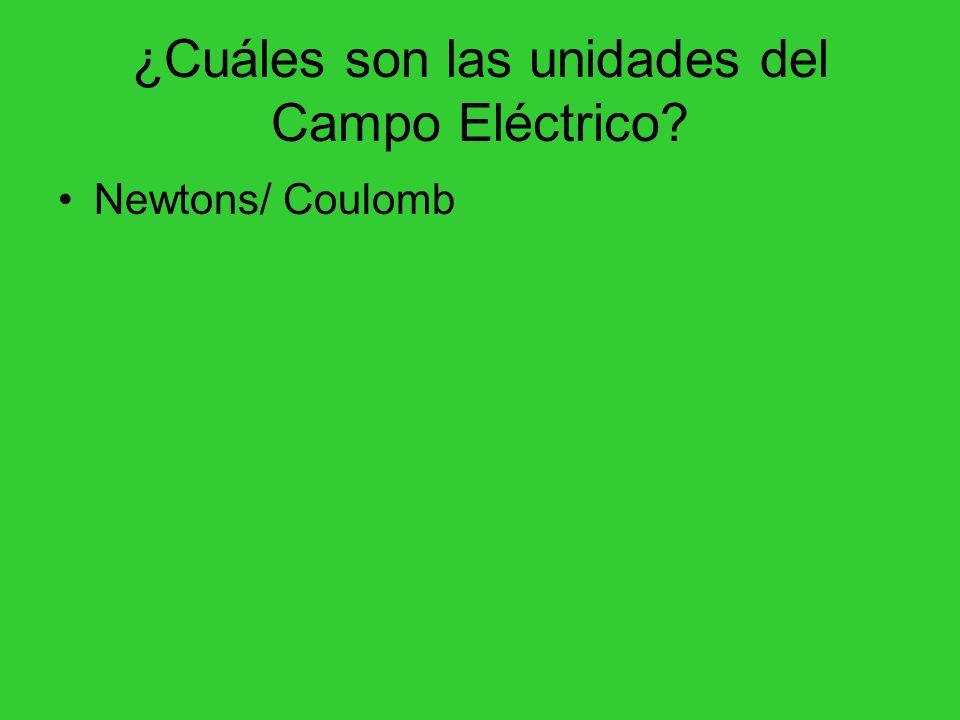 ¿Cuáles son las unidades del Campo Eléctrico? Newtons/ Coulomb