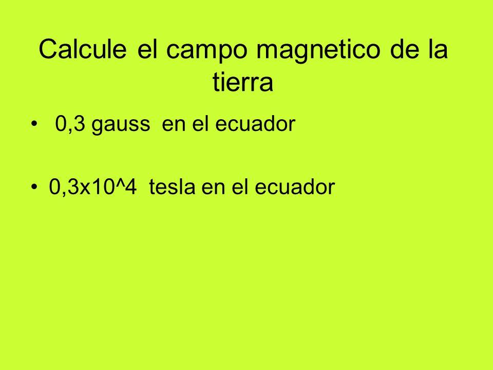 Calcule el campo magnético en el interior de una bobina.