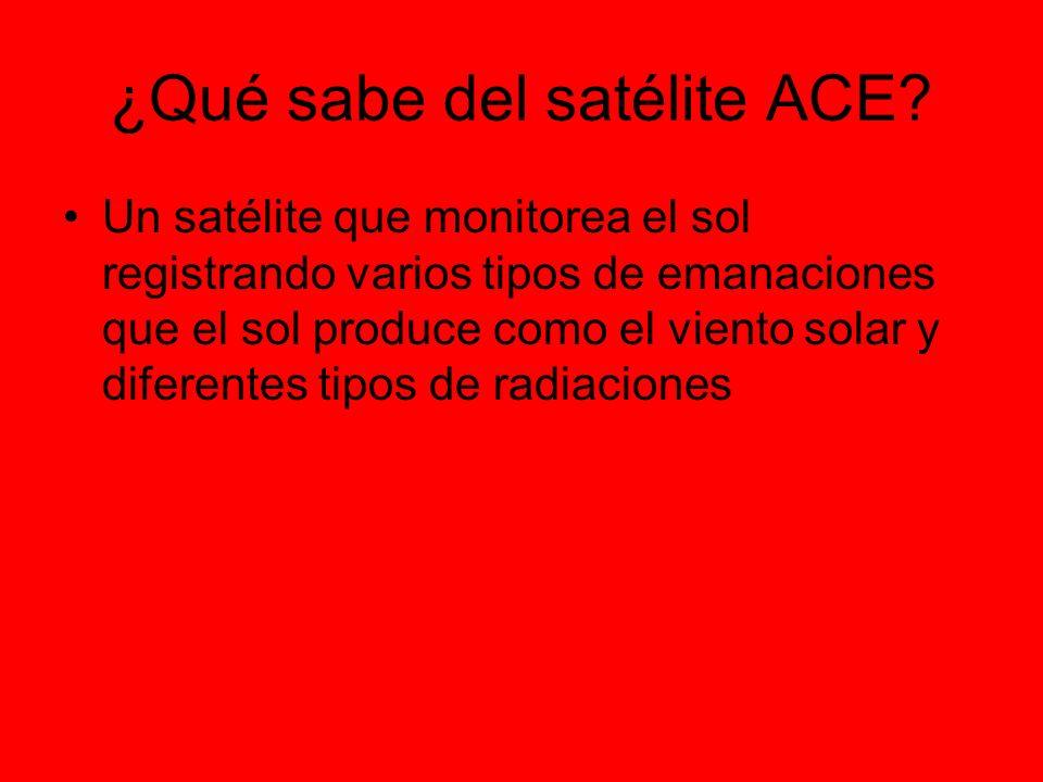¿Qué sabe del satélite ACE.