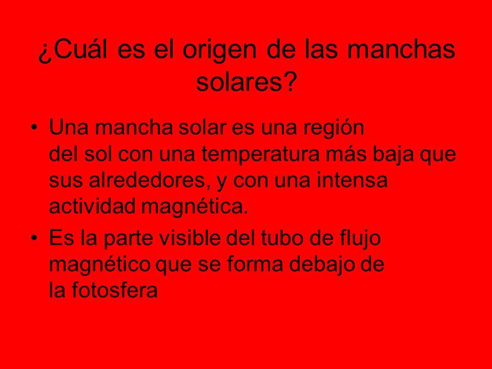¿Cuál es el origen de las manchas solares.