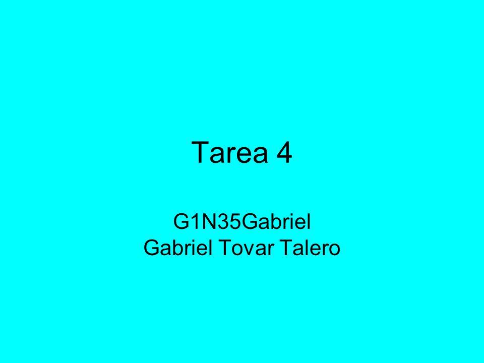 Tarea 4 G1N35Gabriel Gabriel Tovar Talero