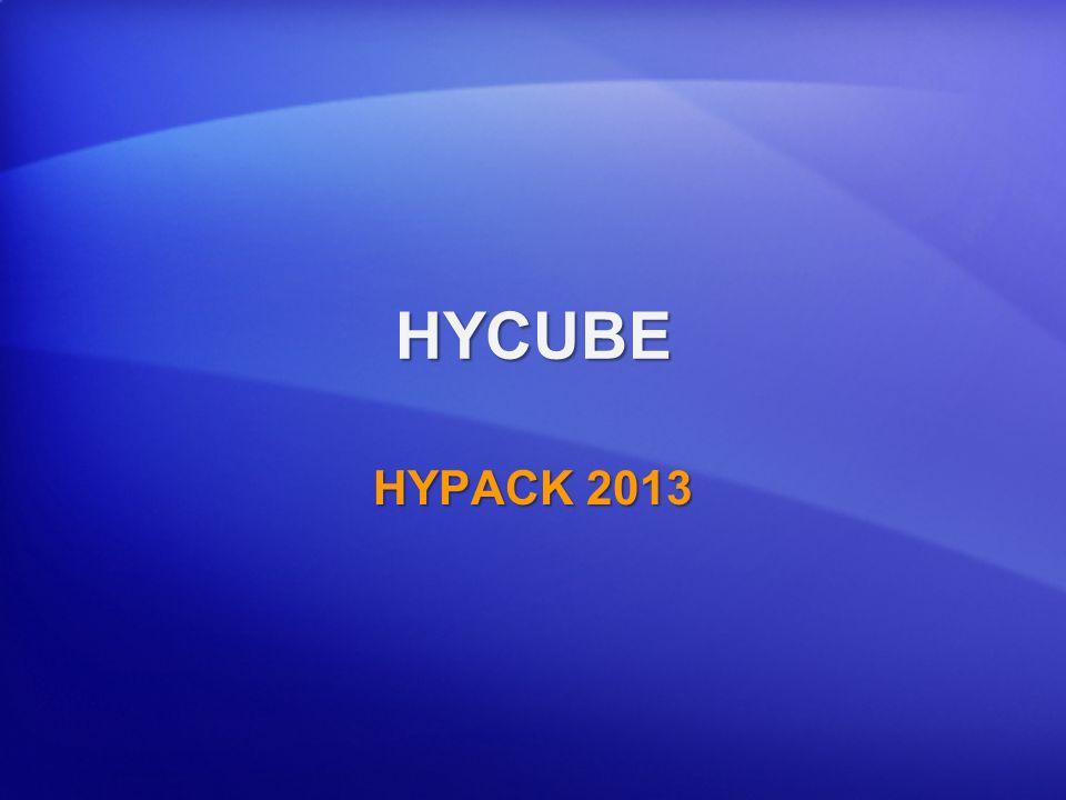 HYCUBE HYPACK 2013