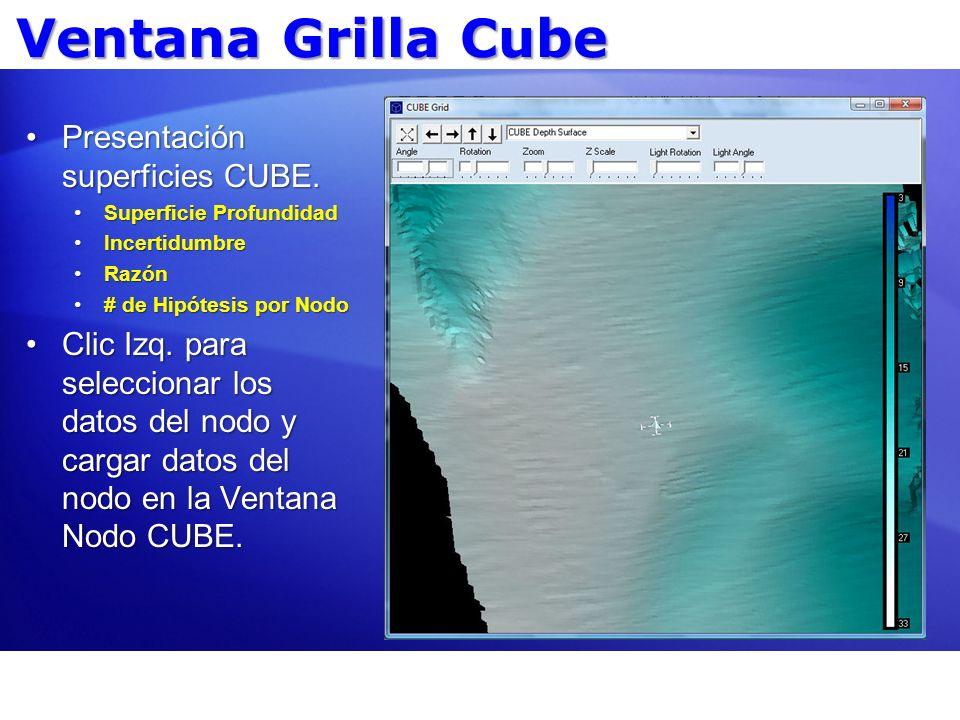 Ventana Grilla Cube Presentación superficies CUBE.Presentación superficies CUBE. Superficie ProfundidadSuperficie Profundidad IncertidumbreIncertidumb