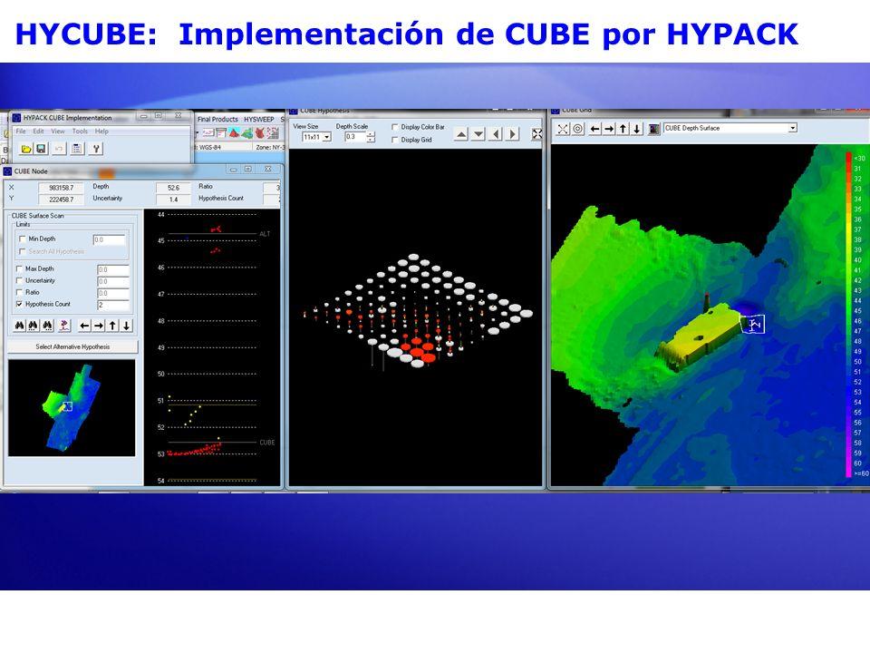 CUBE Combined (Combinada) Uncertainty y (Incertidumbre) Bathymetric (Batimétrico) Estimator (Estimador) Diseñado para Acelerar el Procesamiento de Datos Multihaz.Diseñado para Acelerar el Procesamiento de Datos Multihaz.