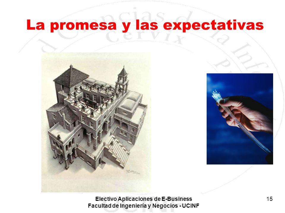 Electivo Aplicaciones de E-Business Facultad de Ingeniería y Negocios - UCINF 15 La promesa y las expectativas