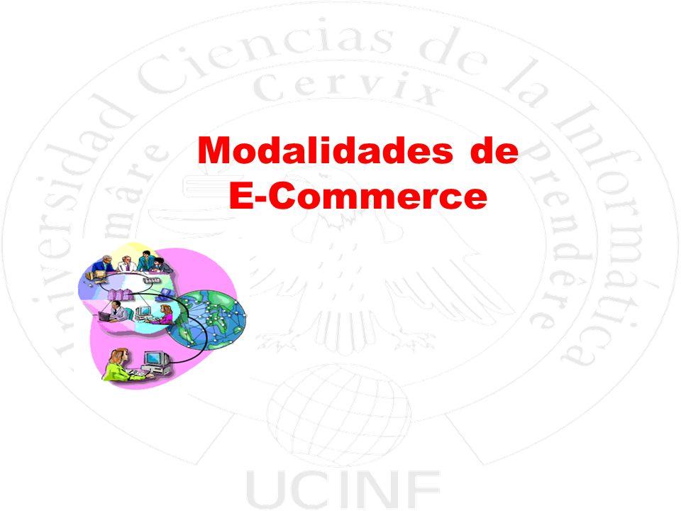 Electivo Aplicaciones de E-Business Facultad de Ingeniería y Negocios - UCINF 7 Modalidades de E-COMMERCE B2B Business to Business Sitios de transacciones comerciales entre empresas.
