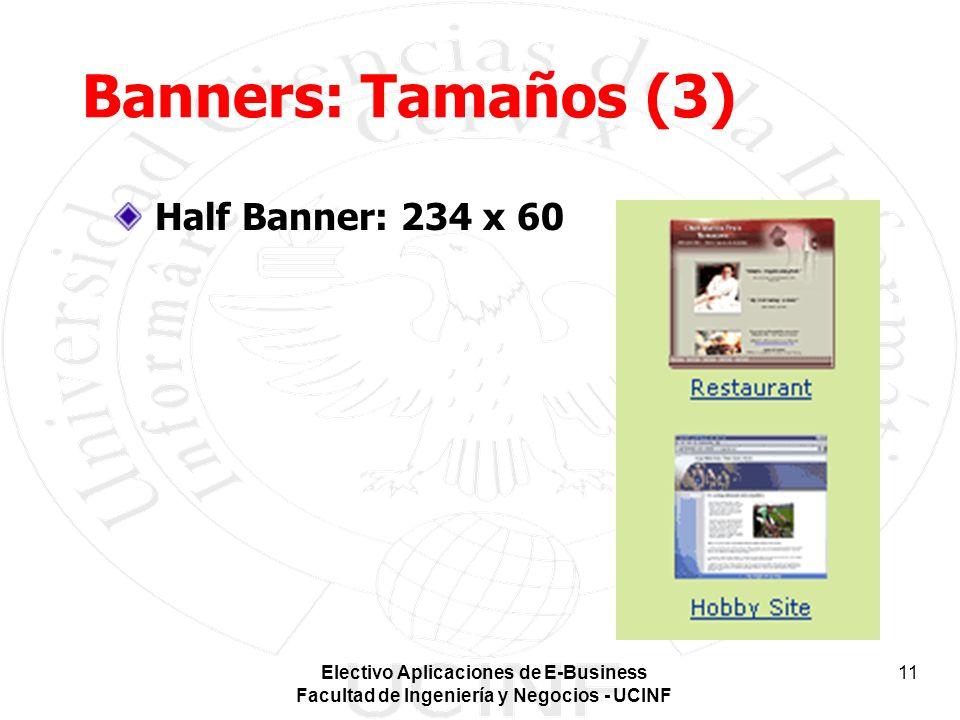 Electivo Aplicaciones de E-Business Facultad de Ingeniería y Negocios - UCINF 11 Banners: Tamaños (3) Half Banner: 234 x 60