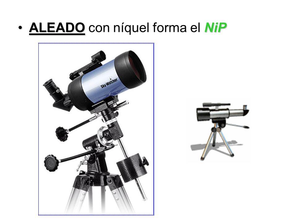 ALEADONiPALEADO con níquel forma el NiP