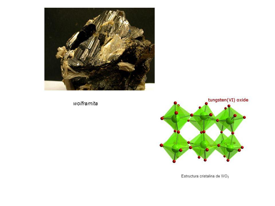 wolframita Estructura cristalina de WO 3