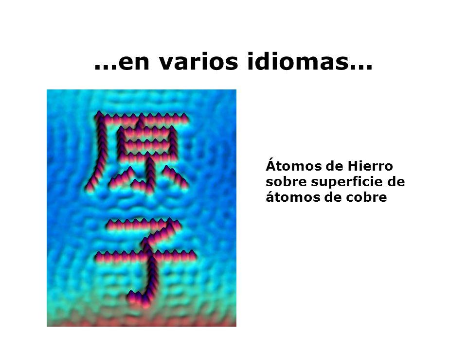 ...escribimos con átomos... Átomos de Xenón sobre superficie de Níquel