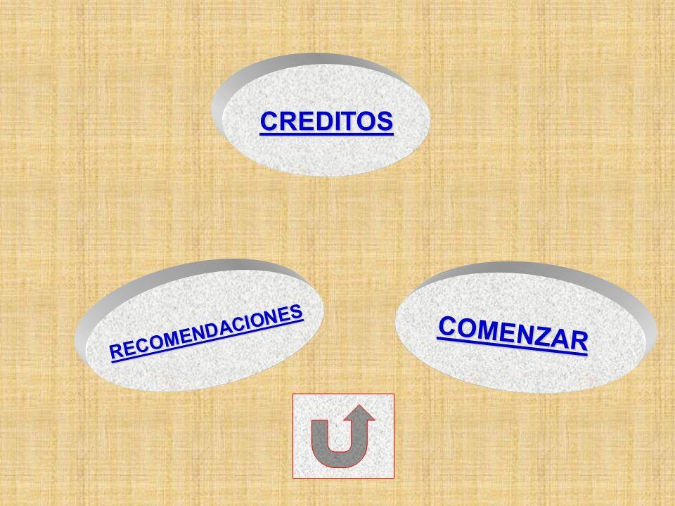 RECOMENDACIONES COMENZAR CREDITOS