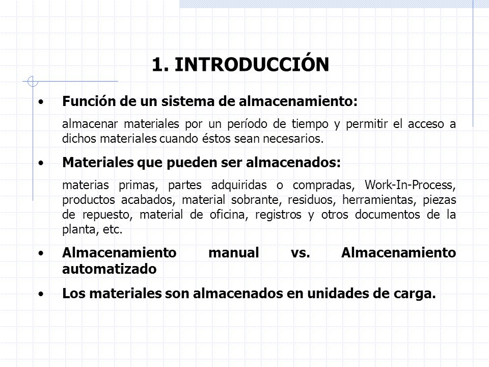 6.ANÁLISIS DE SISTEMAS DE ALMACENAJE. 6.1. Sistemas de almacenamiento/recuperación automatizados.
