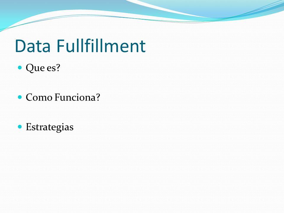 Data Fullfillment Que es? Como Funciona? Estrategias